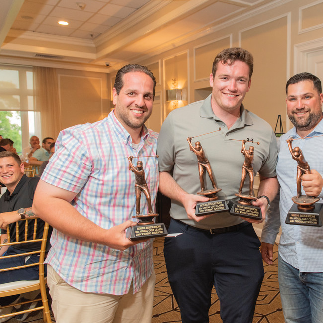 The Winning Foursome (L-R): Paul Losito, Naill Croke, (David Choe-not pictured ), Anthony Meo • Photo: Evan Angelastro