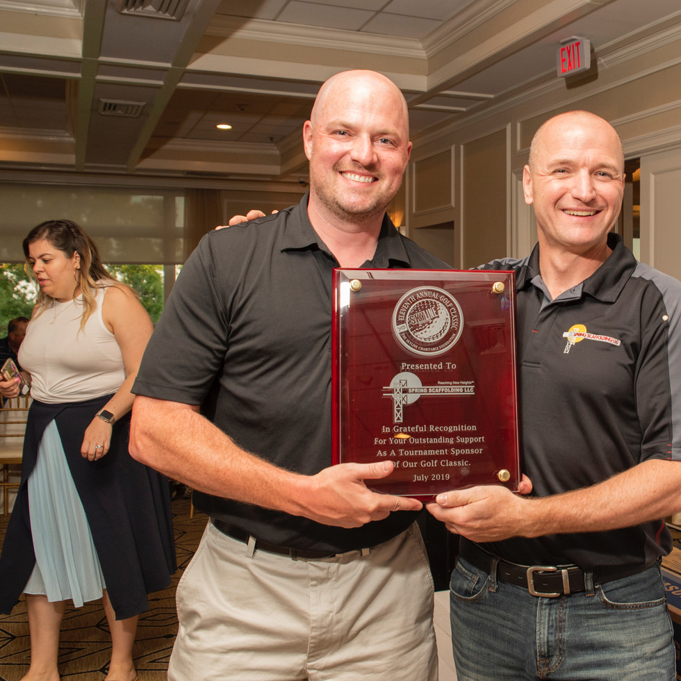William Laffey (L) and Tony Halasz (R), Spring Scaffolding, Tournament Sponsors • Photo: Evan Angelastro