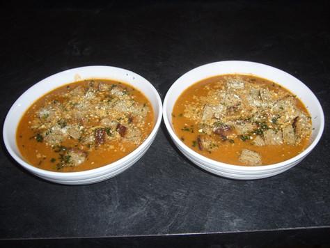 Crème de tomates et champignons