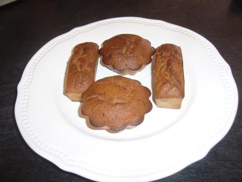 Mini gâteaux aux haricots rouges et aux pommes
