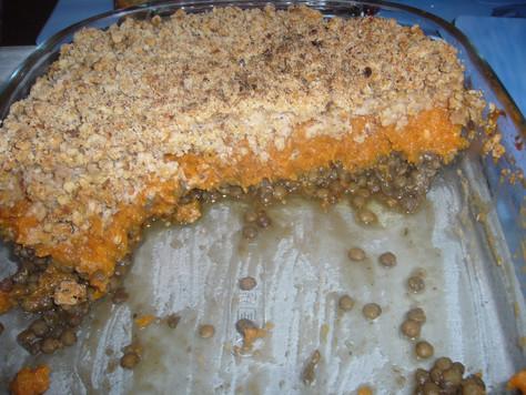 Parmentier aux Lentilles vertes et crumble de noix