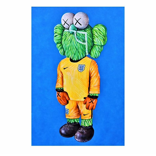Boot-Leg SKAWS! - England Goalkeeper (original oil painting)