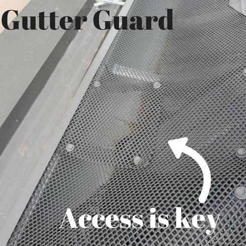 Gutter guard inspection point: access is key