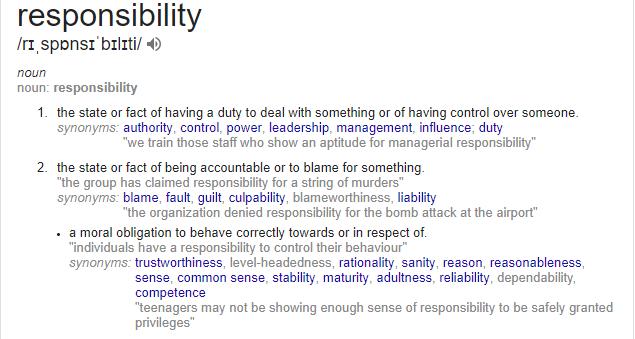 responsibility definition