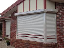 Roller shutters on Bay window Adelaide