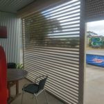 Easy View roller shutters -the best way to enclose a pergola