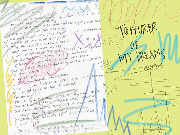 TORTURER OF MY DREAMS: A POEM | thejunkietribe