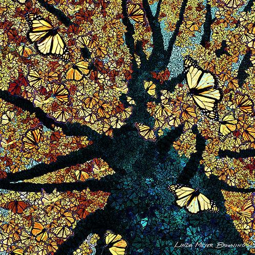 Monarch Mosaic 2, 16x16
