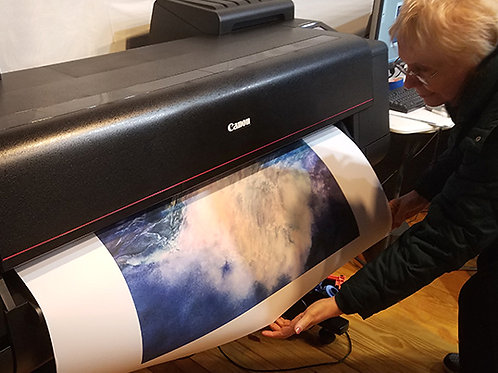 """Large format, """"Power Play"""", being printed"""
