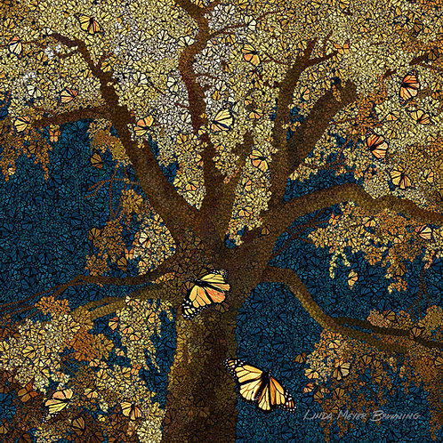 Monarch Mosaic 3, 16x16