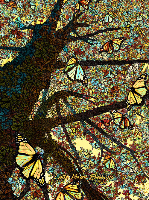 Monarch Mosaic 1, 24x18