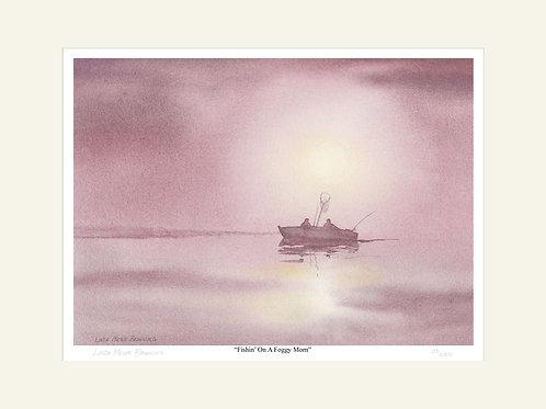 Fishin' On A Foggy Morn, 16x20