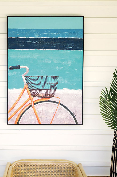 Bicycle Oil Painting