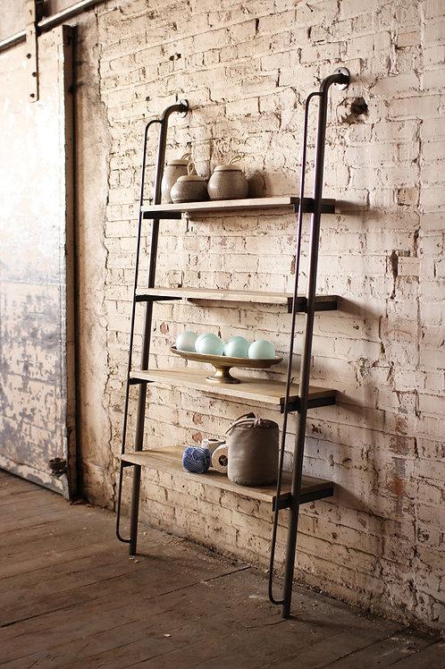 Industrial Wood & Metal Shelf