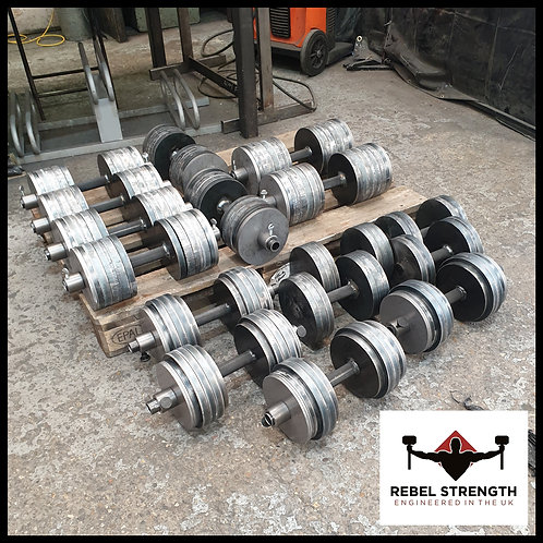 """Adjustable Weight Dumbbells (Pair) 1 1/4"""" Plates"""
