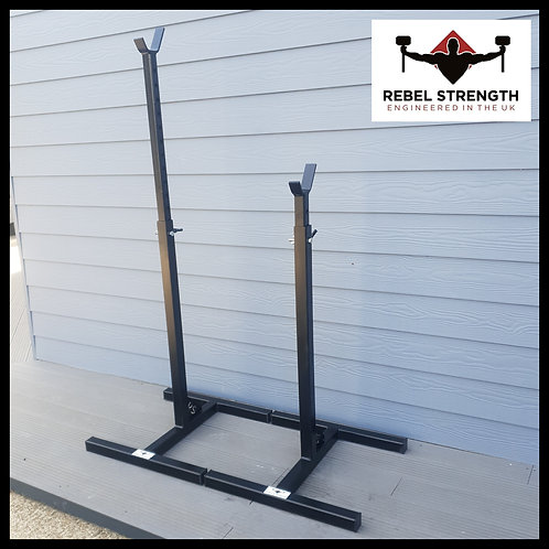 'H' Base Squat Stands (Coated)
