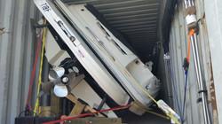 Lancha consolidad en contenedor