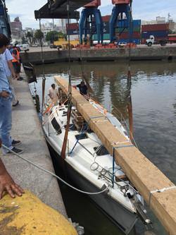 Botada en Puerto Mdeo