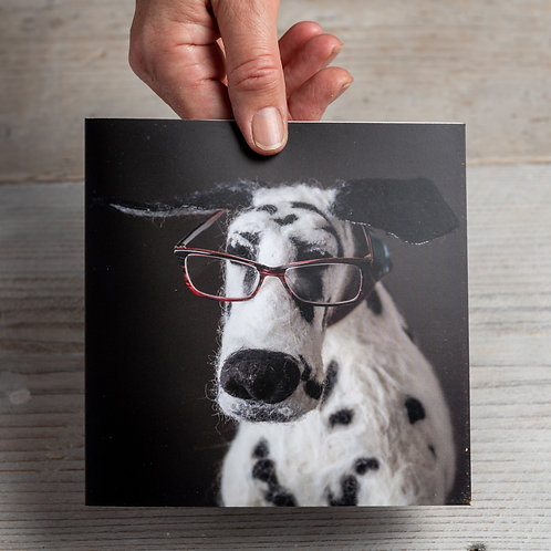 Greeting Card - Dalmatian Mastermind