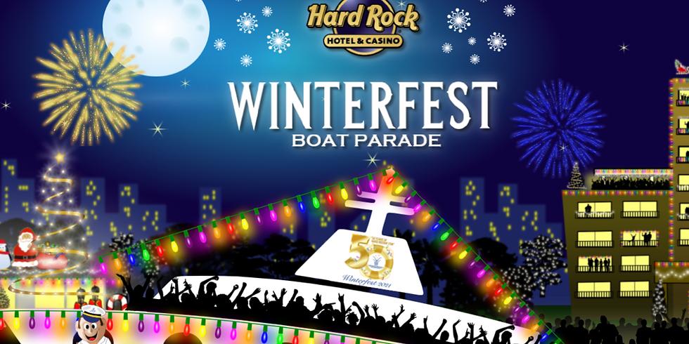FlockFest in the Seminole Hard Rock Winterfest Boat Parade