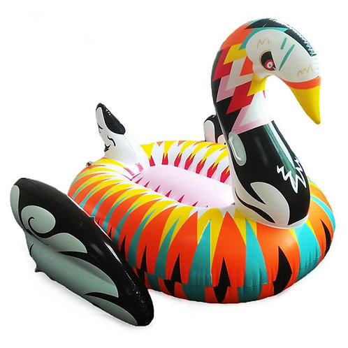 Colorful Large Swan Float