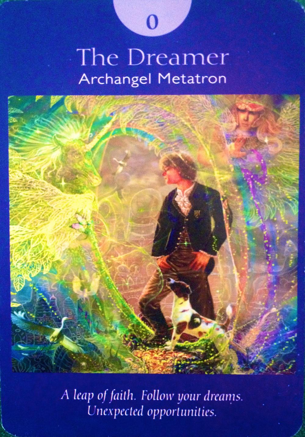 Angel Tarot deck. Major Arcana - the Dreamer 0