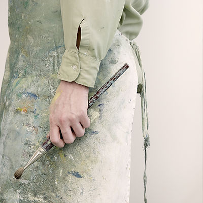 Artist Holding a Paintbrush