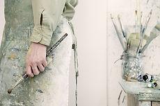 Artist Holding a Paintbrush