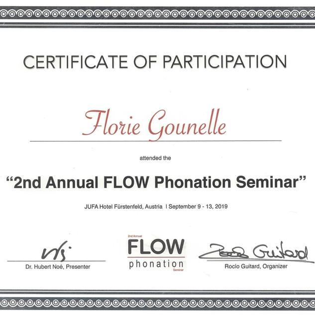 FLOW Phonation Certification 2019