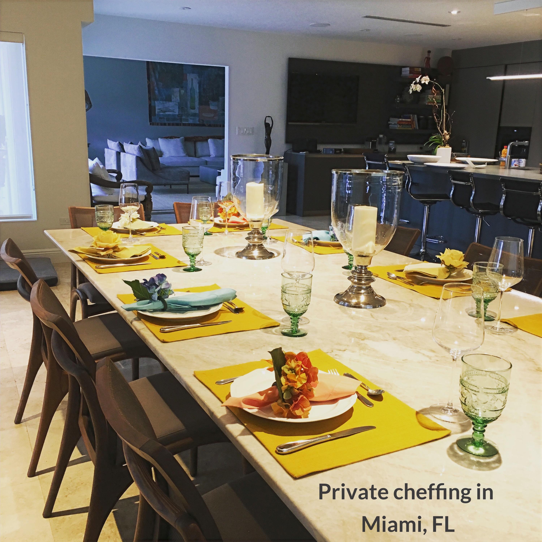 Private cheffing in Miami FL