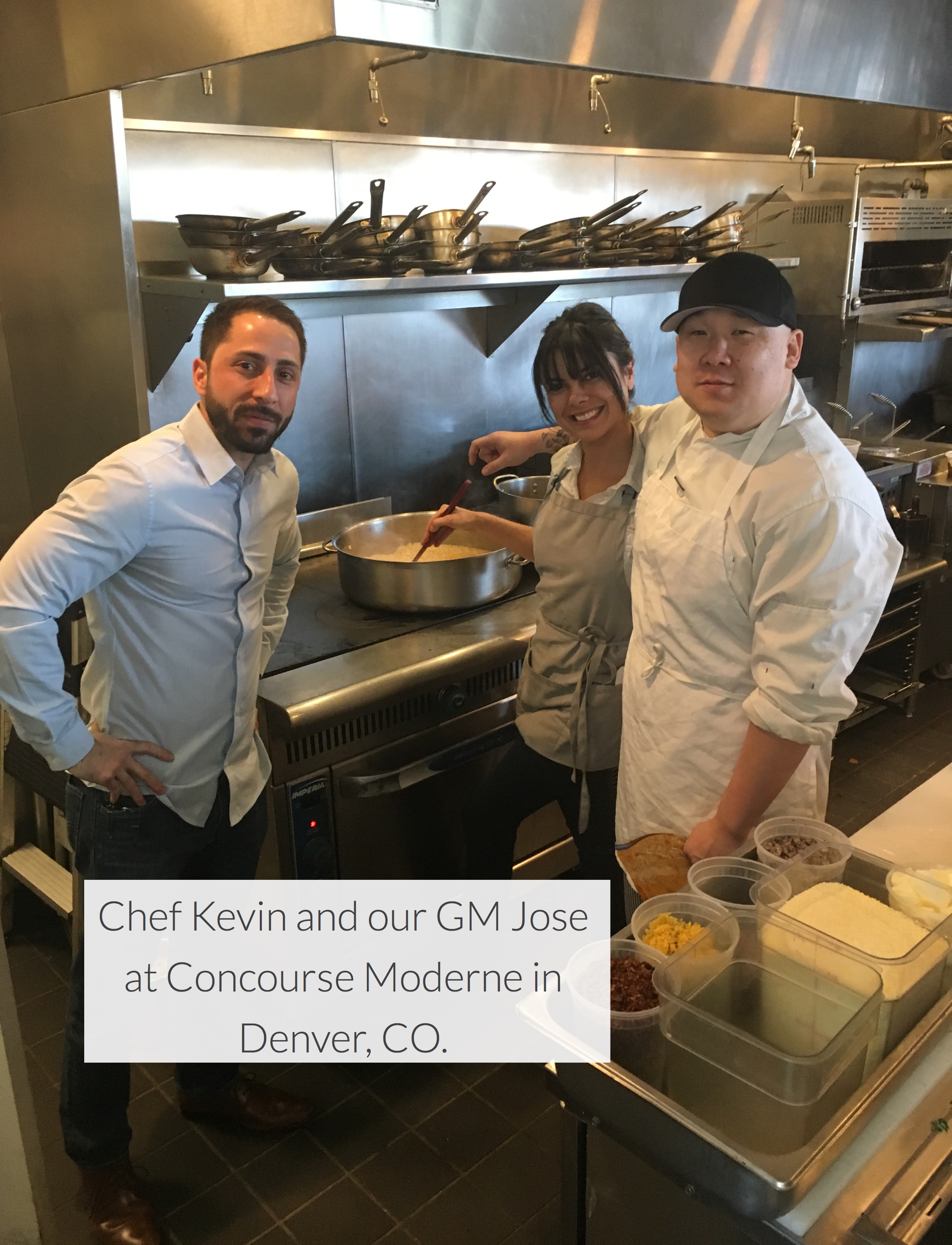 Chef Kevin, Jose and Ana Bueno at Concou