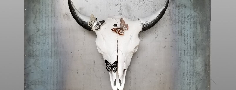 Metal Bulletholes and Butterflies Bison