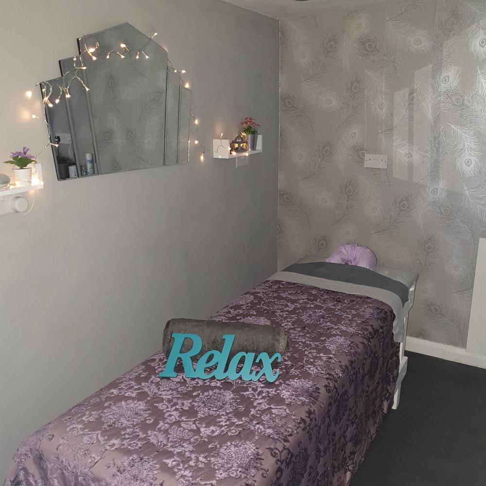 Relaxing, cosy beauty room at Karisma Nails & Beauty