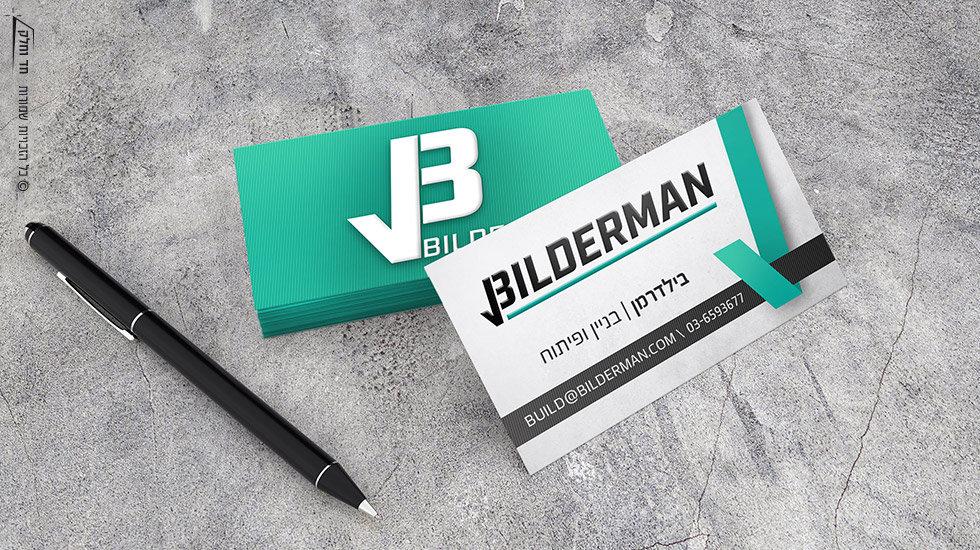 Business card design for Bilderman construction company
