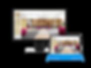 Computerbidschirm mit Anzeige vom Homescreen der Yoga Studio Software YogaShalaManager