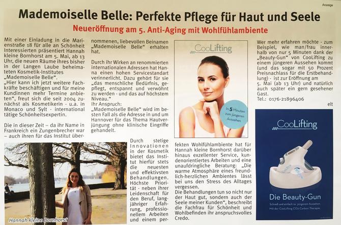 Bericht in Südstadt Nachrichten