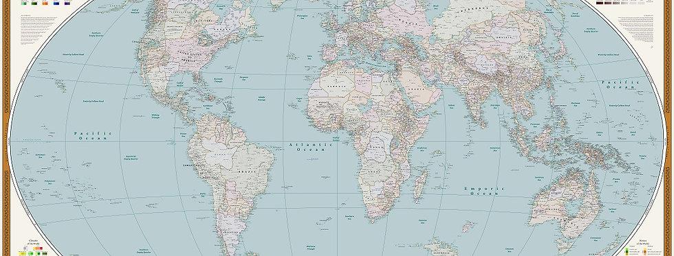 World Map | Political Theme