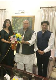 Mr. Shivanshu with Governor Shri Satya Pal Malik