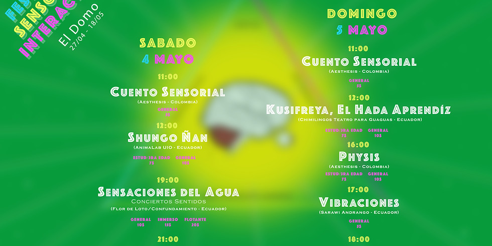 3er Festival Sensorial Interactivo (MADRE TIERRA)