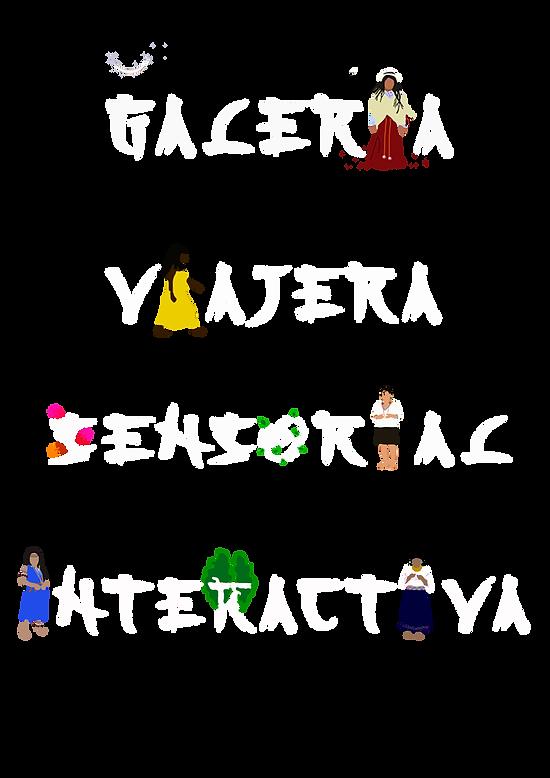 Galeria Viajera tipografia vertical blan