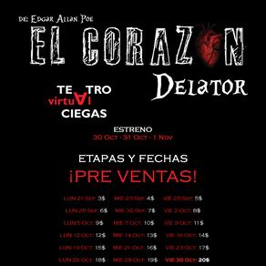PRE VENTA      El Corazón Delator - Teatro Virtual a Ciegas