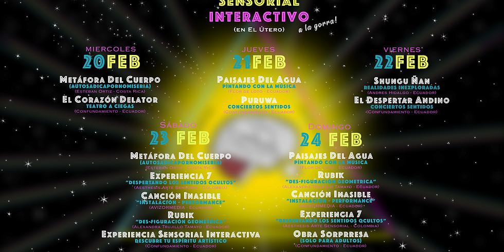 Festival Sensorial Interactivo (a la gorra!) en El Útero