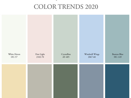 COLOR TRENDS 2020 | Pallette