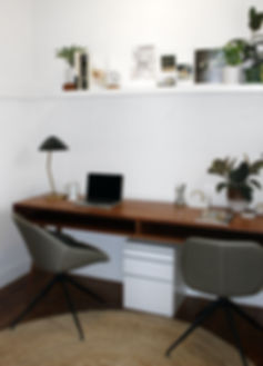 Desk, home office, chairs