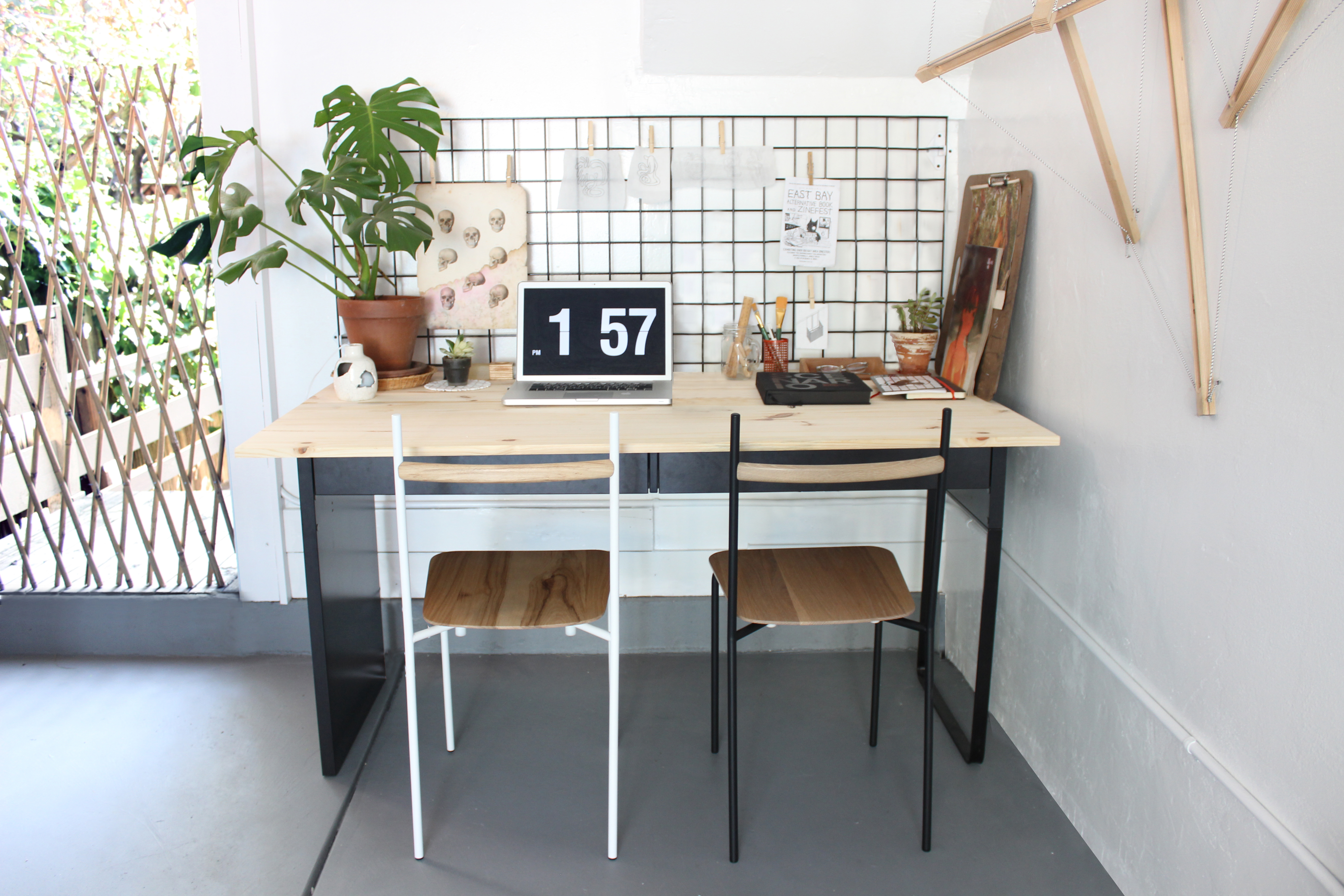 Desk with Twig Chairs