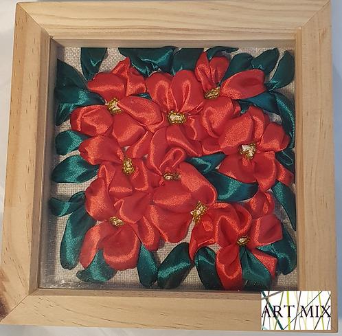 Nine Poinsettia
