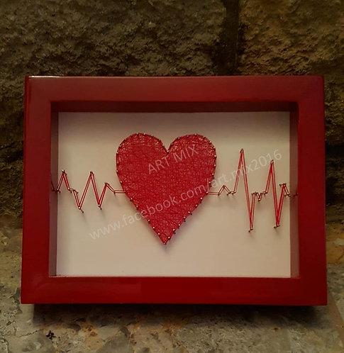 Heart Beat String Art