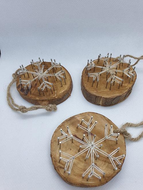 Set of 3 Snowflake Tree Ornaments