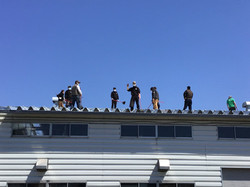 みんなで屋根掃除!