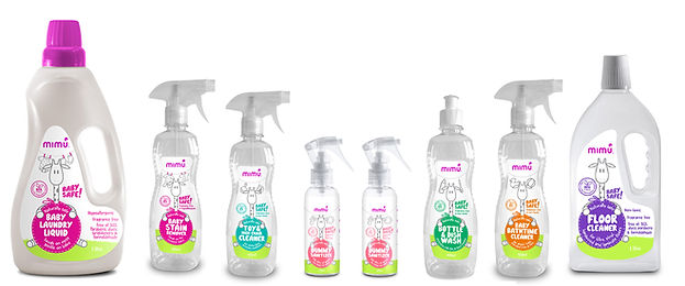 mimu | the baby cleaning range